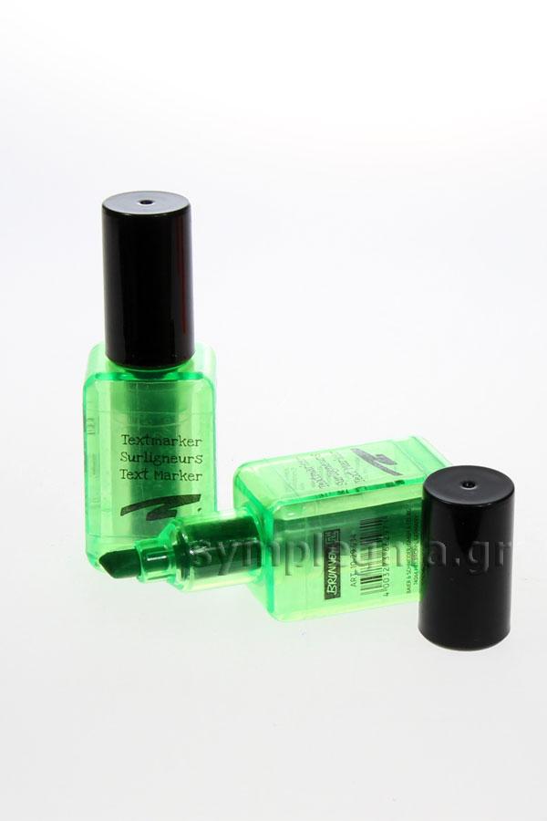 Μαρκαδόρος υπογράμμισης μπουκαλάκι μανό BRUNNEN λαχανί 10-29934