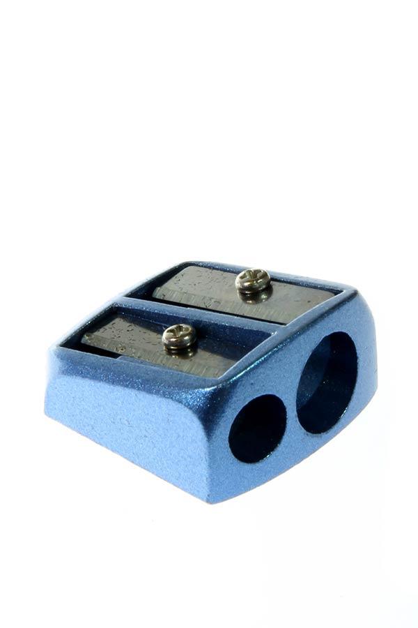 Ξύστρα μεταλλική δύο υποδοχές γαλάζιο S.COOL SC.575