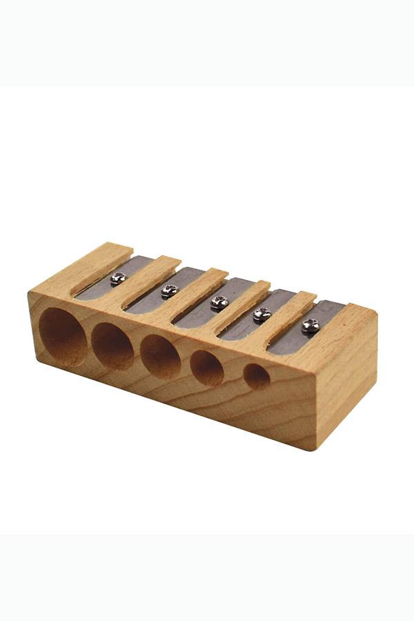 Ξύστρα ξύλινη με 5 υποδοχές LEGAMI WPS0001