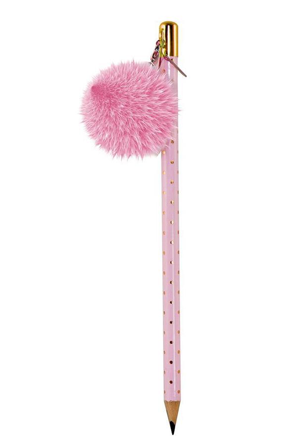 Μολύβι με πομ πομ Tesoro HB ροζ 0582210