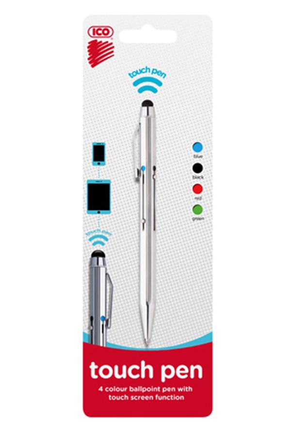 Στυλό διαρκείας 4 χρωμάτων ICO KAMELEON με touch pen
