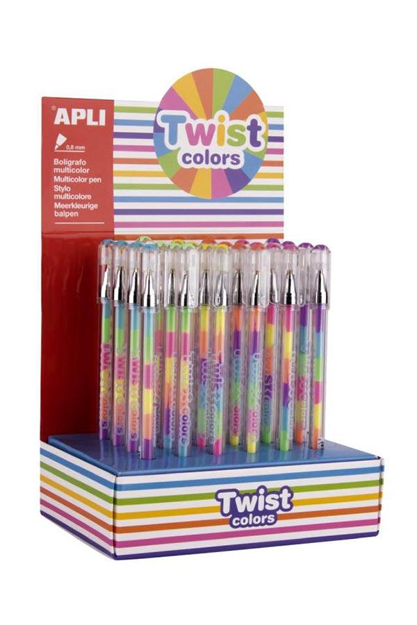 Στυλό πολύχρωμο gel Twist colors APLI 17498