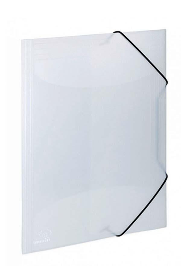 Ντοσιέ με λάστιχο πλαστικό ημιδιάφανο 24x32cm Typotrust FP1650010