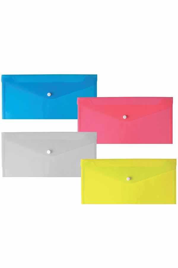 Φάκελος με κουμπί αξιογράφων 22,8x12,5cm SDB-209A-CH
