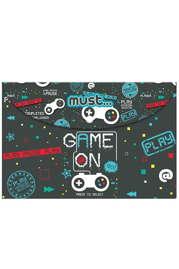 Φάκελος με κουμπί Α4 must Game On 000584287