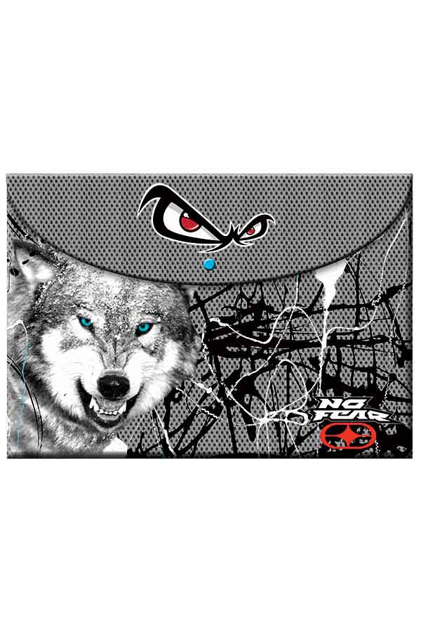 9b3eb4f4ca Φάκελος με κουμπί NO FEAR λύκος 34712580