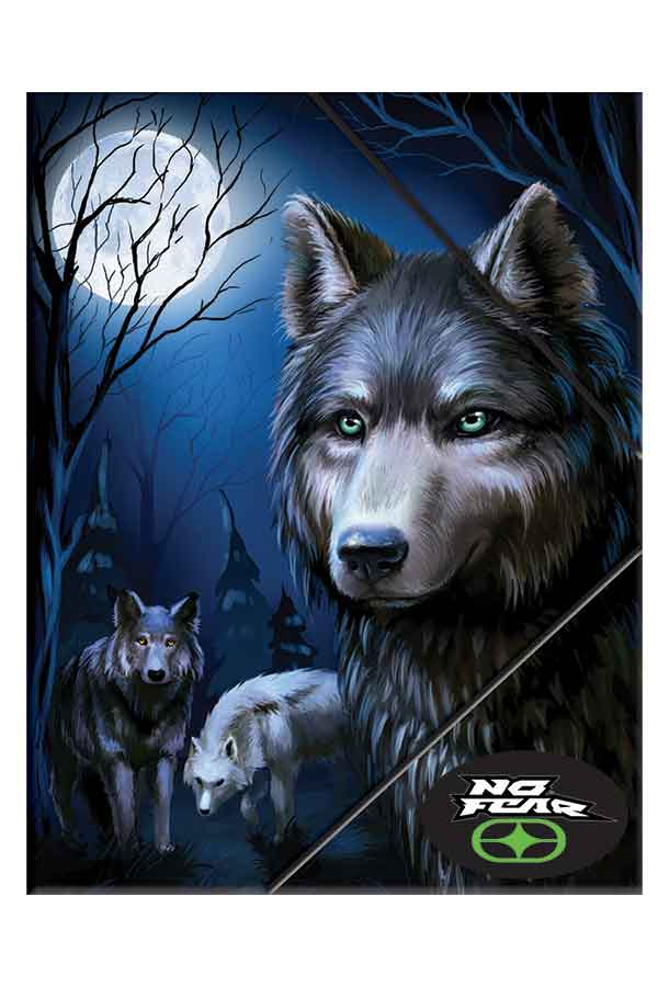 Ντοσιέ με λάστιχο 24x32cm NO FEAR Dark Wolves 34721510