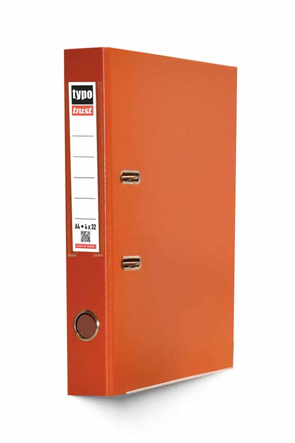 Κλασέρ γραφείου 4/32 πορτοκαλί Typotrust