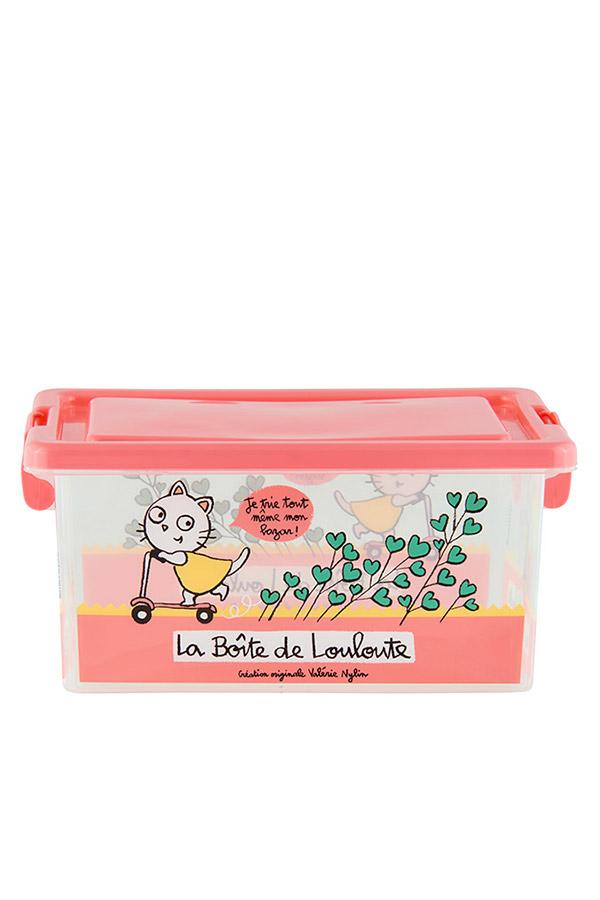 Κουτί αποθήκευσης πλαστικά 25,5x18,5x12cm Γάτα D005-P090115