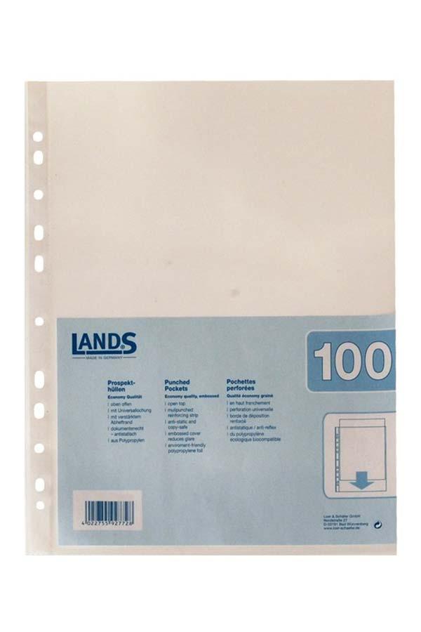Ζελατίνες κρικ Α4 40mic clear 100 τεμ. LANDS 70040