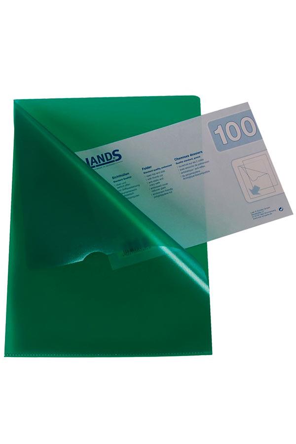 Ζελατίνη Γ LANDS L-Folder Α4 πράσινο ημιδιάφανο 72220-54