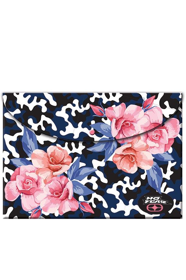 Φάκελος με κουμπί NO FEAR Army flower 34715580