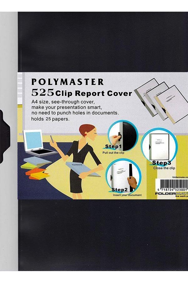 Ντοσιέ με κλιπ Foldermate A4 μαύρο 525