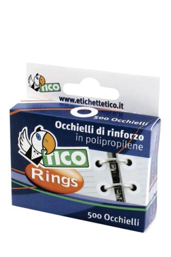 Ενισχυτικές ροδέλες φύλλων κρικ διάφανες TICO Rings 70109