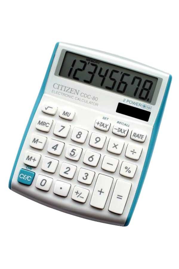 Αριθμομηχανή τυρκουάζ CITIZEN CDC 80VBL