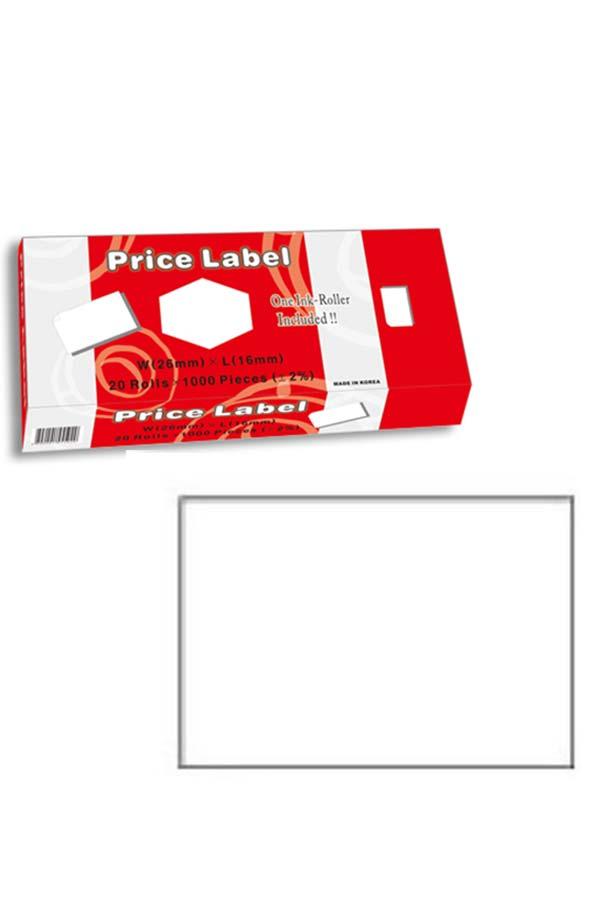 Αυτοκόλλητες ετικέτες λευκές ετικετογράφων 1τμχ. 26x16mm Motex 449.2616-E