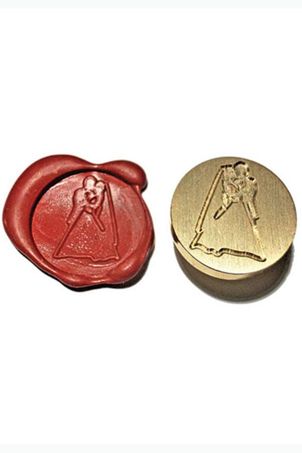 Σφραγίδα για βουλοκέρι 2,5 cm - Νύφη και γαμπρός