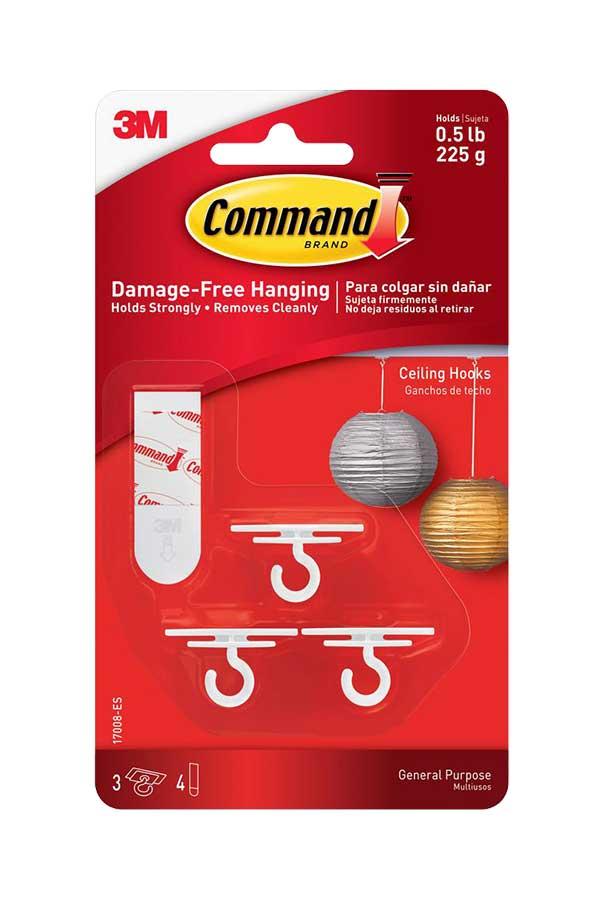 Αυτοκόλλητα γαντζάκια οροφής 3M Command 3 τεμ