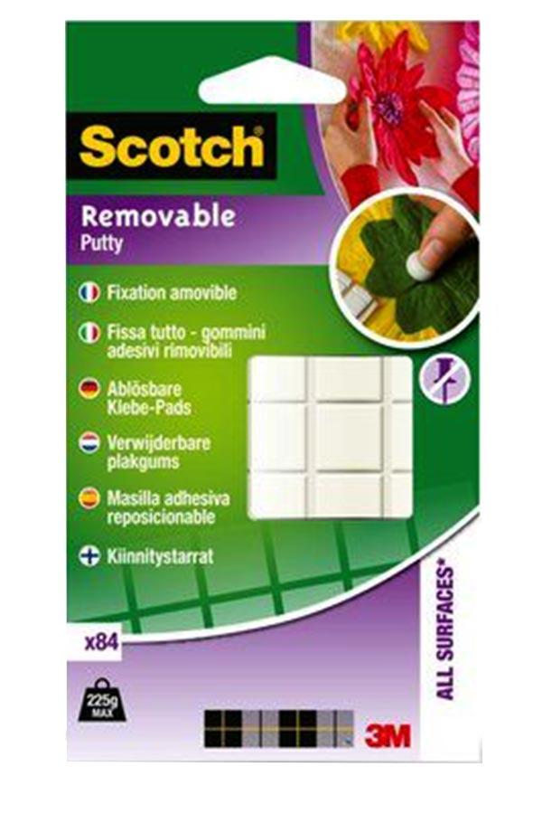 Πλαστελίνη στήριξης άσπρη Scotch Removable 84 τεμαχίων