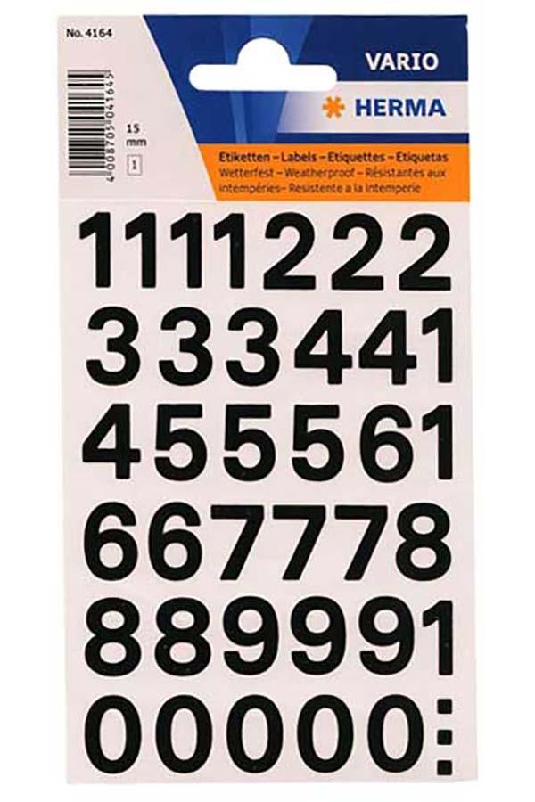 Αυτοκόλλητοι αριθμοί 15mm HERMA 4164