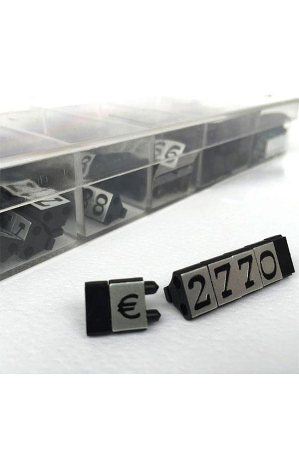 Τιμές βιτρίνας 12mm ασημί