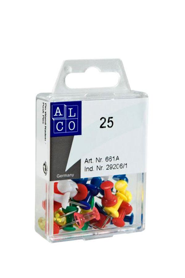 Καρφίδες φελοπίνακα χρωματιστές ALCO 661A 8x11mm