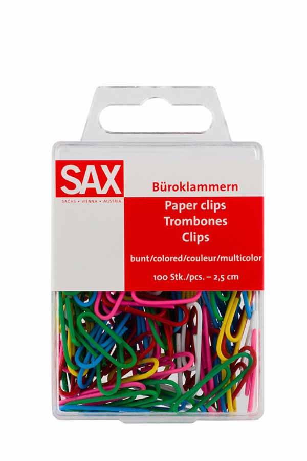 Συνδετήρες SAX πολύχρωμοι 25mm 5-807-01