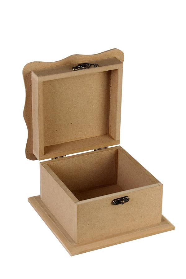 Ξύλινο κουτί MDF 14x14x10,5cm 411873