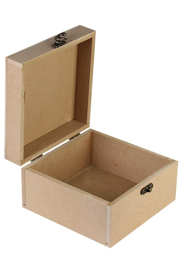 Ξύλινο κουτί MDF 16x16x10cm 411705