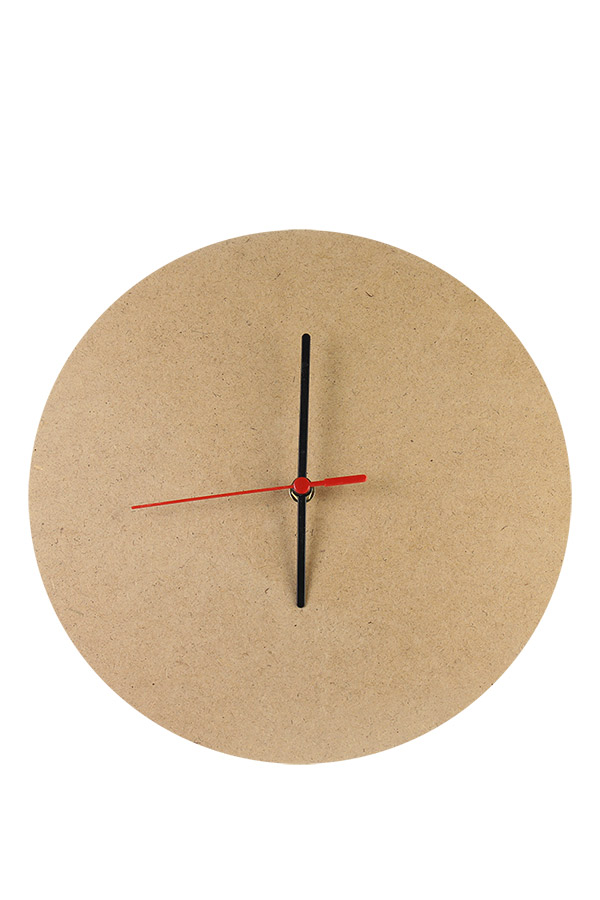 Ξύλινο ρολόι τοίχου MDF 30cm με μηχανισμό 411989
