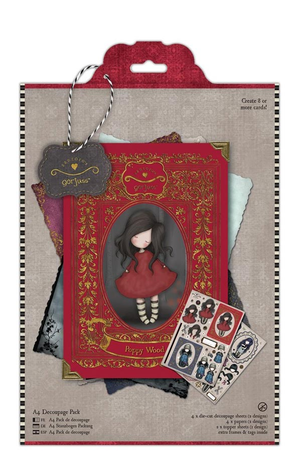 Χαρτόνια scrapbooking Santoro gorjuss - Poppy wood GOR169107