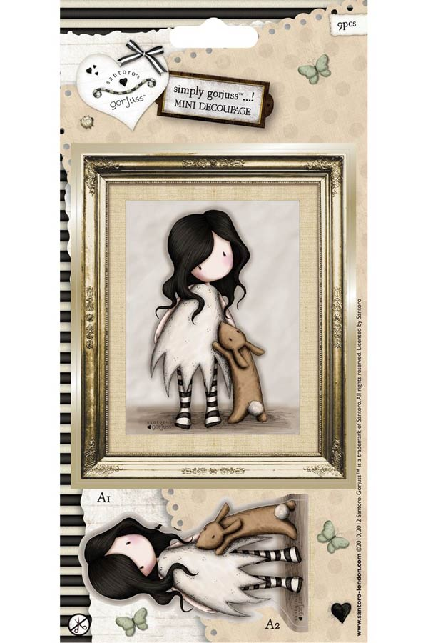 Χαρτόνια scrapbooking Santoro gorjuss - I love you little rabbit GOR157104