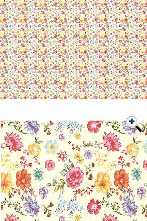 Χαρτόνι 50x70 τυπωμένο Λουλουδάκια URSUS 13372201