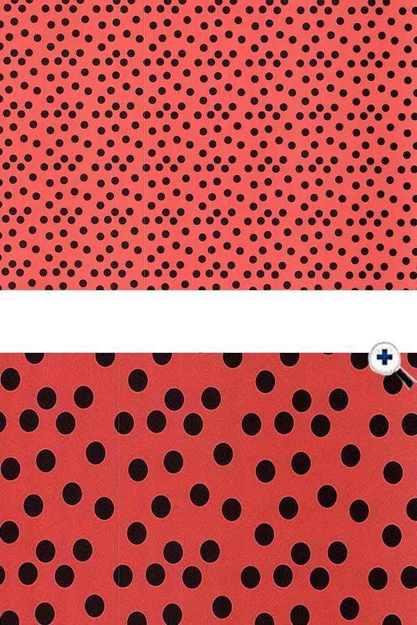 Χαρτόνι 50x70 τυπωμένο πουά κόκκινο - μαύρο URSUS 12922206