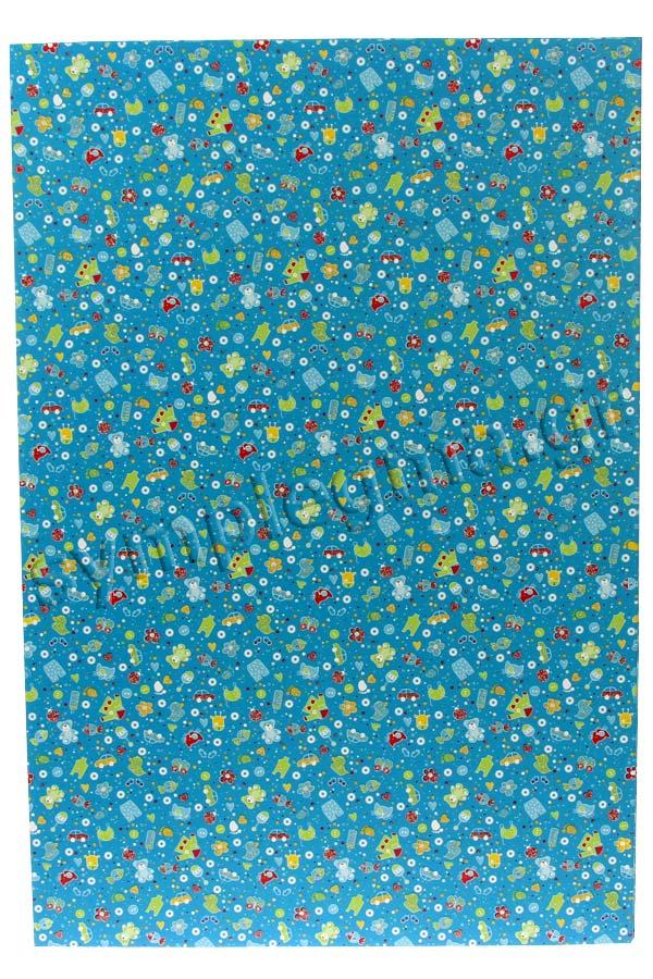Χαρτόνι 21x30 μπλε τυπωμένο παιδικά σχέδια glitter HEYDA 20-4775139