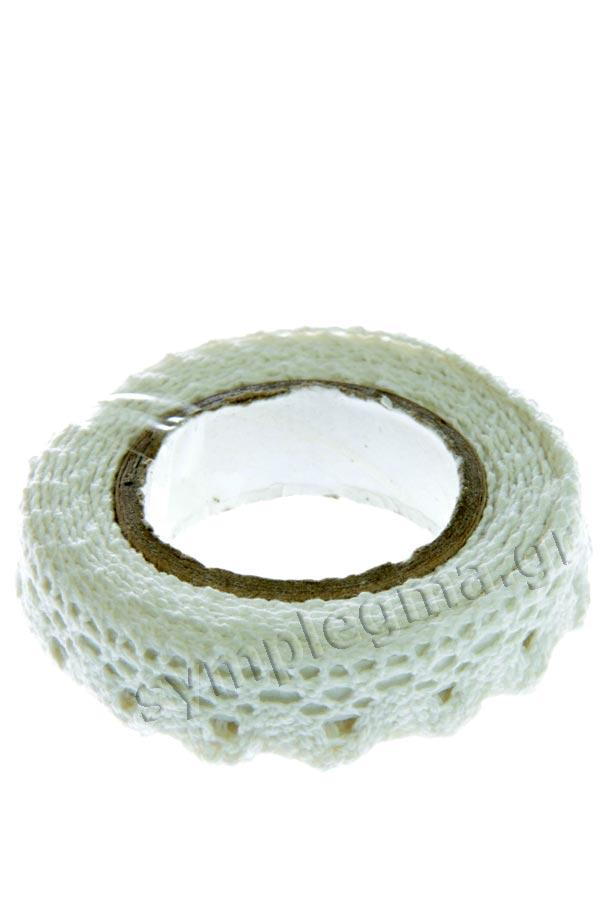 Δαντέλα αυτοκόλλητη λευκή HEYDA 20-3584500