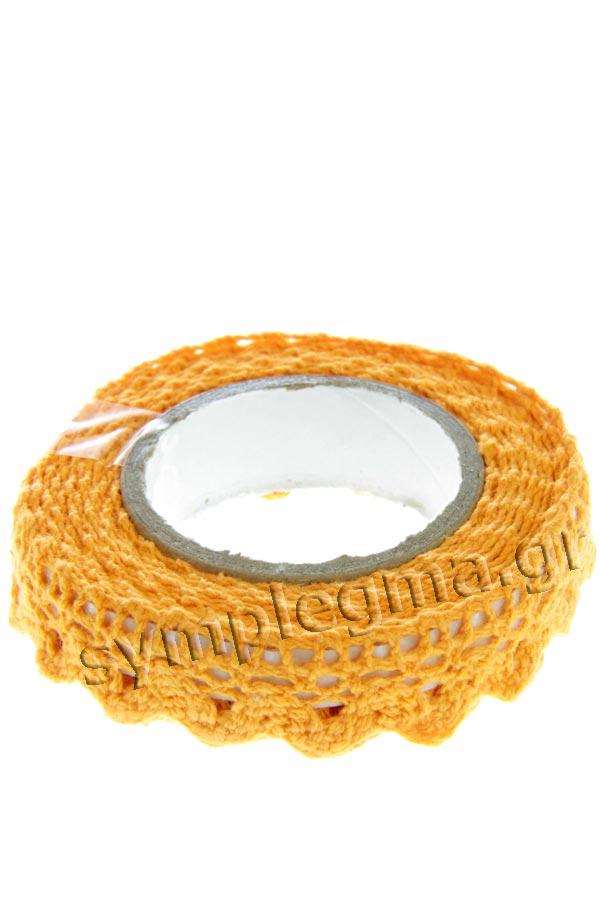 Δαντέλα αυτοκόλλητη πορτοκαλί HEYDA 20-3584392
