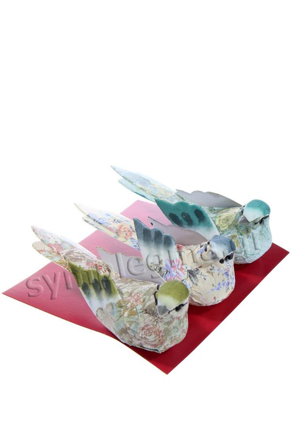 Πουλάκια χάρτινα παστέλ χρώματα 3τμχ Artemio 13001019