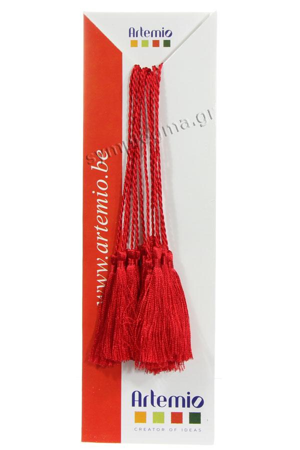 Φούντες διακοσμητικές - κορδόνι κόκκινες 6 τεμ Artemio 11006280
