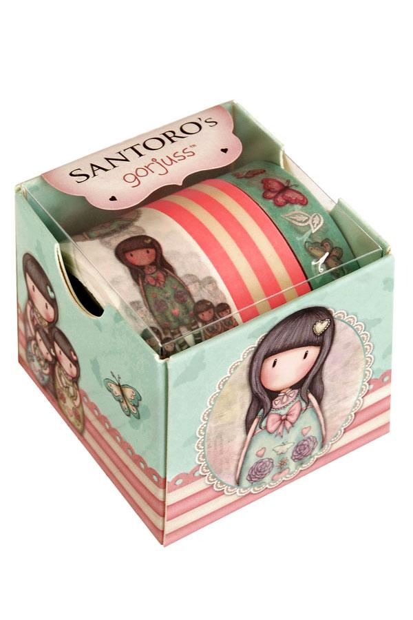 Διακοσμητικές ταινίες αυτοκόλλητες Washi tape Santoro gorjuss - Seven sisters 699GJ01