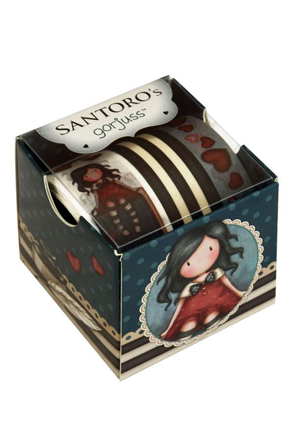Διακοσμητικές ταινίες αυτοκόλλητες Washi tape Santoro gorjuss - My story 699GJ02