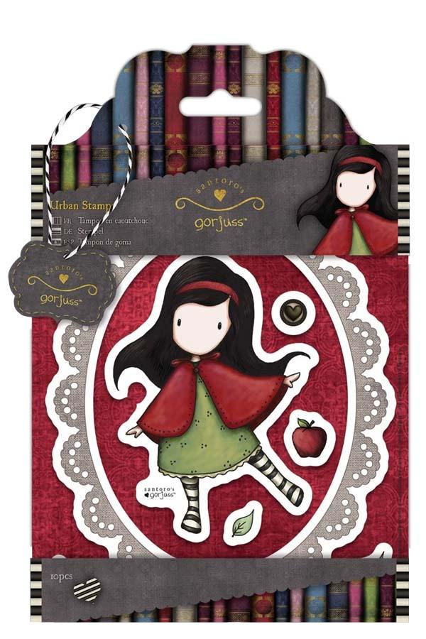 Σφραγίδες σετ 10 τεμάχια Santoro gorjuss - Little red GOR90711