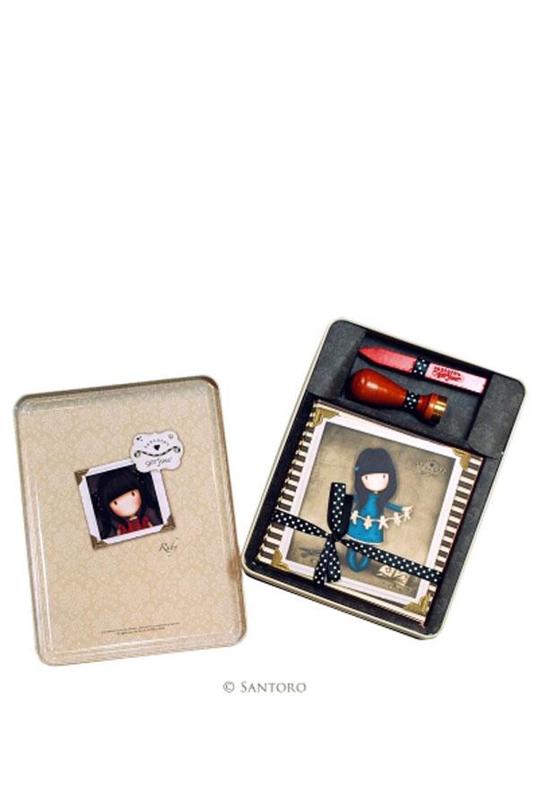 Σετ κάρτες Santoro gorjuss με σφραγίδα βουλοκέρι Ruby 356GJ01