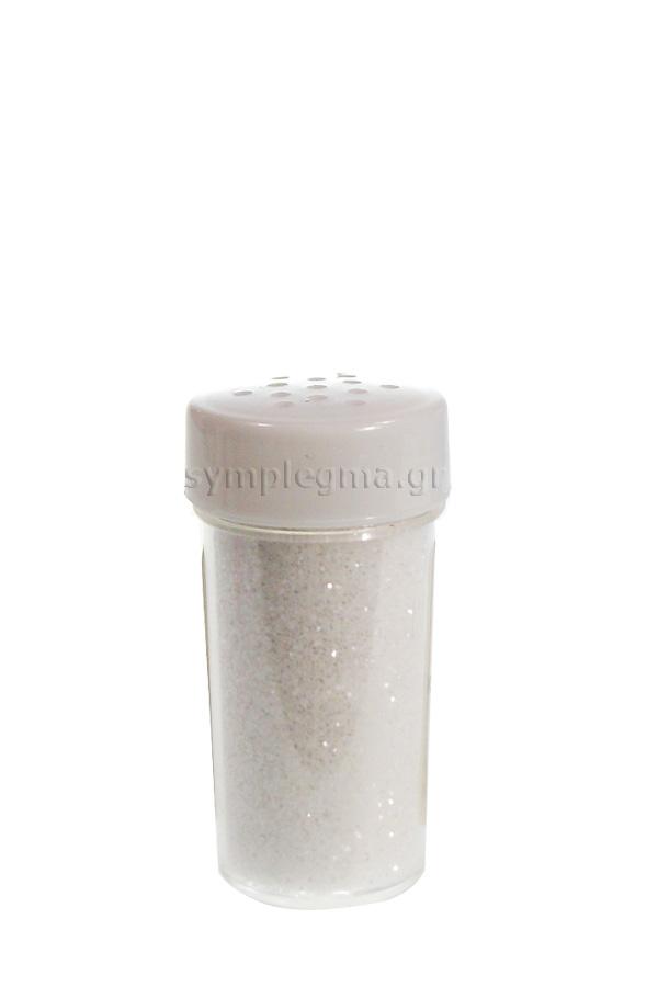 Χρυσόσκονη περλέ λευκή αλατιέρα μικρή 303GLP