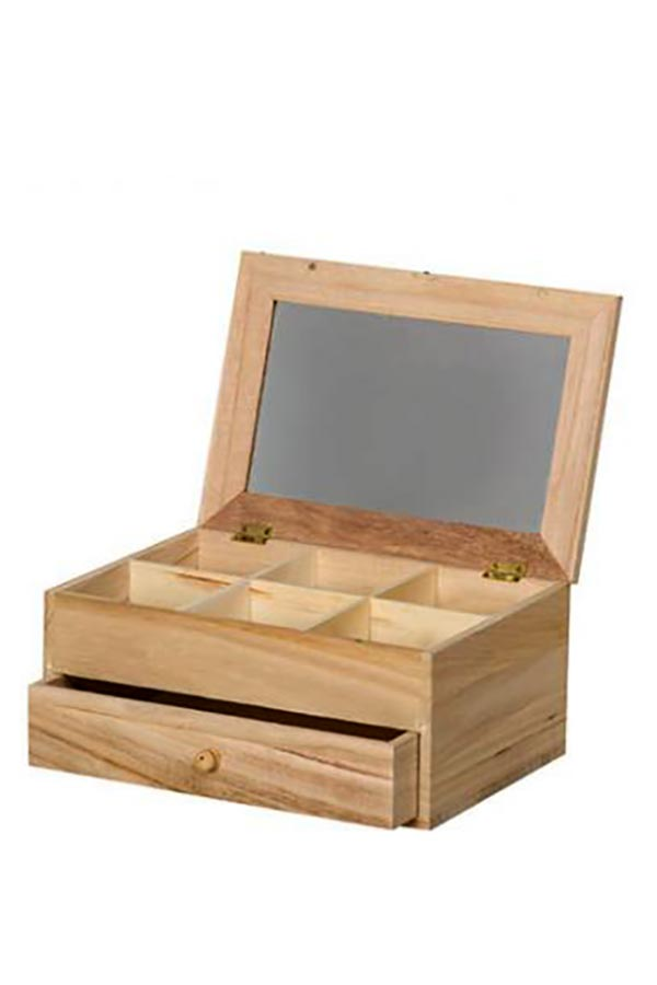 Μπιζουτιέρα ξύλινη συρτάρι 26x17,5cm Artemio 14001052