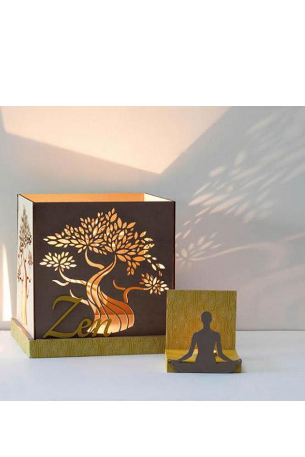 Ξύλινο φωτιστικό δέντρο 22x22x22cm Artemio 14001803