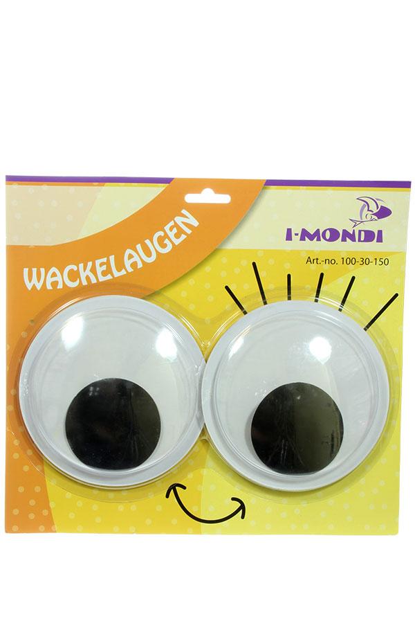 Μάτια κινούμενα στρογγυλά αυτοκόλλητα 150mm I-MONDI 10030150