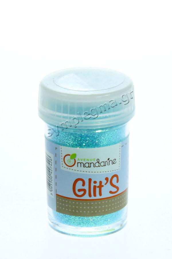 Χρυσόσκονη περλέ γαλάζιο φθορίζον αλατιέρα 14gr Avenue mandarine 42742O