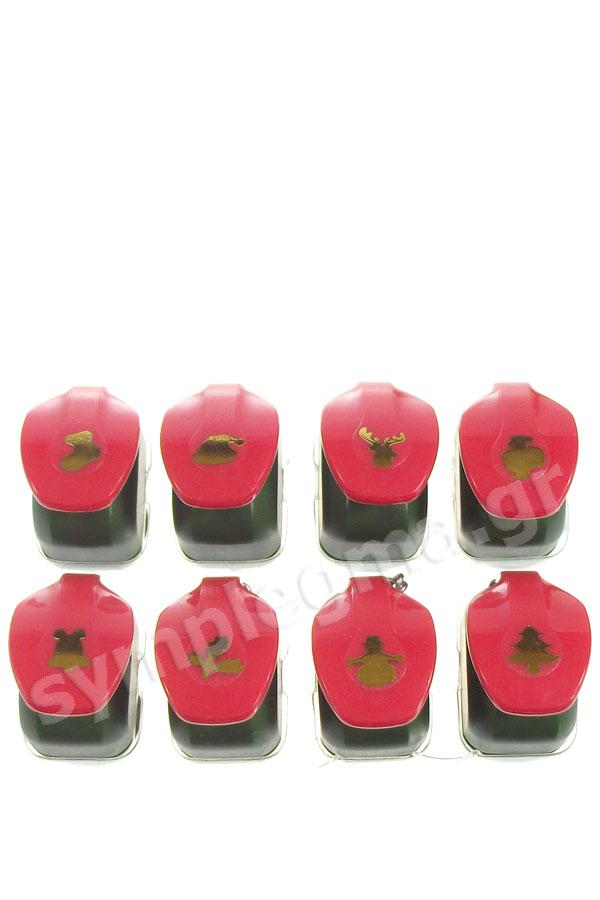 Φιγουροκόπτες mini 8 χριστουγεννιάτικα σχέδια 0.9cm Artemio 10003080