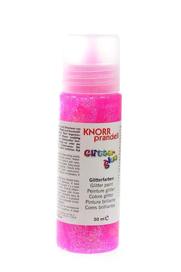 Κόλλα glitter Knorr prandell φθορίζον ροζ ιριδίζουσα 50ml 218099024